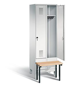Garderobekast met voorgebouwde zitbank 49030-20