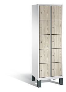 Vakkenkast met poten en 5 vakken boven elkaar met houten deuren S3500 Evolo