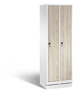 Garderobekast met sokkel met houten deuren S3500 Evolo