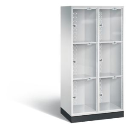Vakkenkast met 3 plexiglas deuren boven elkaar S4000 Intro