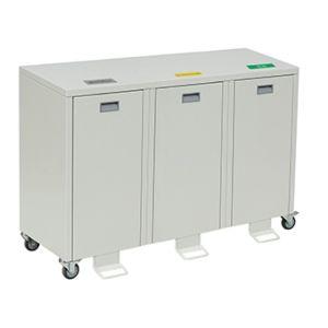 Recycling afvalbakken van metaal 1, 2 of 3 bakken