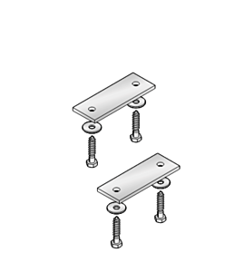Verbindingselementen voor 2 werkbanken